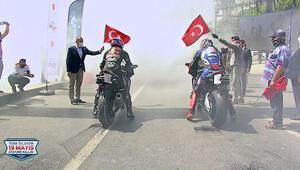Kenan Sofuoğlu ile Toprak Razgatlıoğlu, 19 Mayıs Atatürk Rallisinde İstanbulu turladı