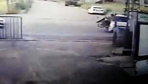 Adıyamanda motosikletlinin öldüğü kaza güvenlik kamerasında