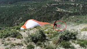 Nallıhanda yamaç paraşütü kazasında 2 pilot hafif yaralandı