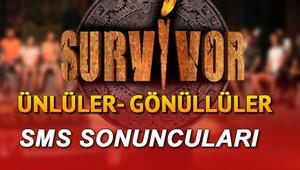 Bu hafta Survivorda sms sıralaması nasıldı 19 Mayıs Ünlüler- Gönüllüler SMS sıralaması