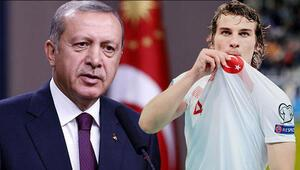 Cumhurbaşkanı Erdoğandan Çağlar Söyüncüye transfer sorusu