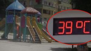 Termometre 39yi gösterdi, çocuklar dışarı çıkamadı