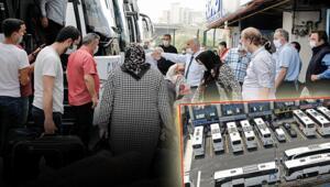 İstanbuldan onlarca otobüsle yola çıktılar