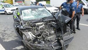 AK Parti Milletvekili Ümraniyede kazada yaralandı