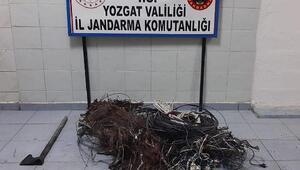 Yozgatta kablo hırsızlığına 2 gözaltı