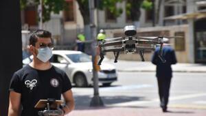 Malatyada maskesiz sokağa çıkanlar dronlarla tespit ediliyor