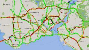 İstanbul trafiğinde yoğunluk dikkatlerden kaçmadı Durma noktasına geldi...