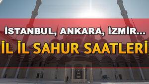 Sahur saat kaçta Sahur vakti ezan ne zaman okunacak 23 Mayıs İstanbul Ankara İzmir ve tüm illerin sahur imsak vakitleri