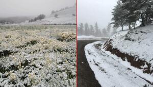 Mayıs ayında kar sürprizi Bir günde sıcaklık 17 derece düştü