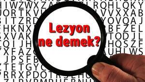 Lezyon ne demek Lezyon nedir Lezyon TDK kelime anlamı