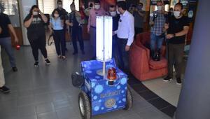 Koronavirüse karşı Aydında yerli robot geliştirildi