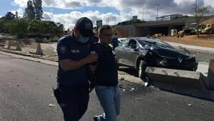 Taciz etti, suçüstü yakalandı, kaçarken kaza yaptı Gazetecileri görünce: Eyvah, bitti her şey