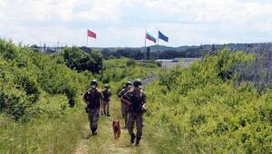 Yunanistan ve Bulgaristan sınırındaki Hudut Kartalları bayramda görev başında