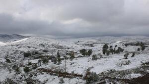 Konyaya kar yağdı