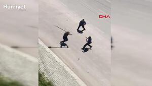 Afyonkarahisarda akli dengesi bozuk olduğu iddia edilen kişi ambulansa taş atıp, polise saldırdı