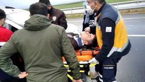 Erzurumda feci kaza: 5 bekçi yaralı