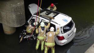 Silivride dereye düşen otomobilin sürücüsü hayatını kaybetti