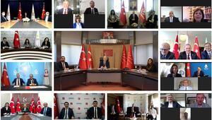 CHP, AK Parti ve MHP ile video konferans aracılığıyla bayramlaştı