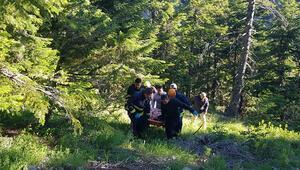 Kamyonet 250 metrelik uçuruma yuvarlandı: 1 ölü, 2 yaralı