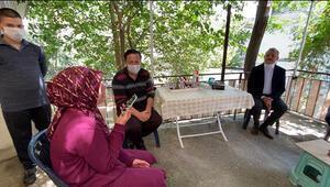 Cumhurbaşkanı Erdoğan şehit ailesiyle görüştü