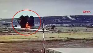 Rusyada askeri helikopterin düşme anı kamerada