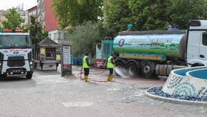 Kütahya sokaklar dezenfekte ediliyor
