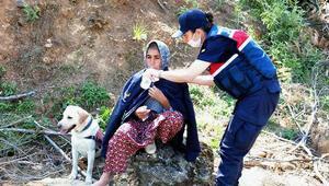 Kayıp kadın, 2 gün sonra ormanlık alanda bulundu