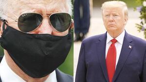 Maskeli Biden, maskesiz Trump'a karşı