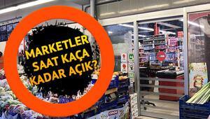 Marketler ne zaman açılacak Marketler saat kaçta açılıyor