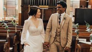 Erteledikleri düğünlerini çalıştıkları hastanede yaptılar
