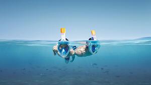 Bu da deniz maskesi: Ağız, burun ve gözleri kapatan dalış şnorkeli