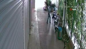 Banka müdürüne sokak ortasında saldırı kamerada