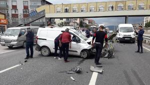 Kocaelide hatalı sollama kazası: 1 yaralı