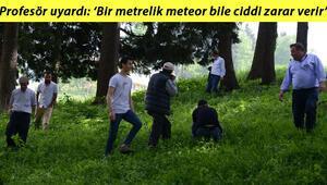 Meteor düştü iddiası heyecan yarattı, Trabzonlular aramaya çıktı Profesör uyardı: Bir metrelik meteor bile ciddi zarar verir