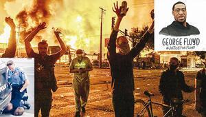 Amerika alev alev Polis şiddetinden sonra yağmacılar devrede