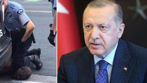 Cumhurbaşkanı Erdoğan, ABDdeki polis şiddeti olayını kınadı