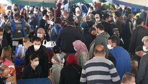 Ankarada kısıtlama öncesi pazarda yoğunluk