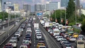 İstanbulda trafik yoğunluğu yüzde 50yi aştı