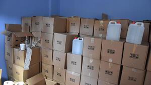 İzmirde 8 ton sahte etil alkol ele geçirildi