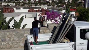 Yılmaz Özdilin Bodrumda bulunan villasındaki kaçak bölümler yıkılıyor