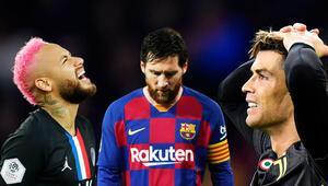 Ronaldo, Messi ve Neymara büyük şok Tarihte bir ilk...