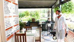 Restoran ve lokantalar dezenfekte ediliyor