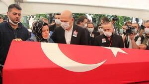 Şehit polis Atakan Arslan son yolculuğuna uğurlandı