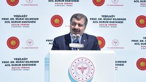 Son dakika... Bakan Koca, Yeşilköy Prof. Dr. Murat Dilmener Acil Durum Hastanesi açılışında konuştu