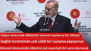 Son dakika... Cumhurbaşkanı Erdoğandan Prof. Dr. Murat Dilmener Acil Durum Hastanesinin açılışında önemli açıklamalar