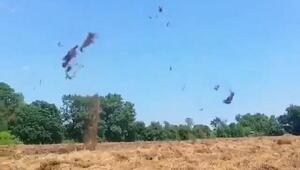 Hortum samanları havalandırdı