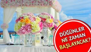Düğünler ne zaman başlayacak Düğün salonları ne zaman açılacak