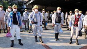 Zonguldakta maden işçileri tedbirlerle işbaşı yaptı