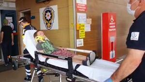 Kısıtlama günü parkta kaydıraktan düşen Ömerin kolu kırıldı
