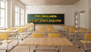 Özel okullar ne zaman açılıyor Özel okullarda telafi eğitim ne zaman başlayacak